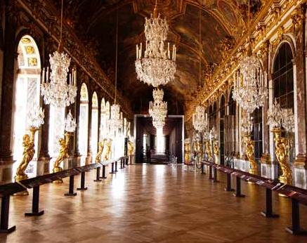 versailles hall of mirrors. The Hall of Mirrors in